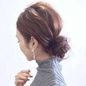 ワンパターンなんて言わせない‼長さ別ボブヘア簡単まとめ髪♡のサムネイル画像