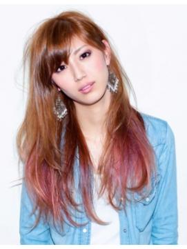 魅力満点☆グラデーションヘアで自分らしくカラーを楽しもう☆のサムネイル画像