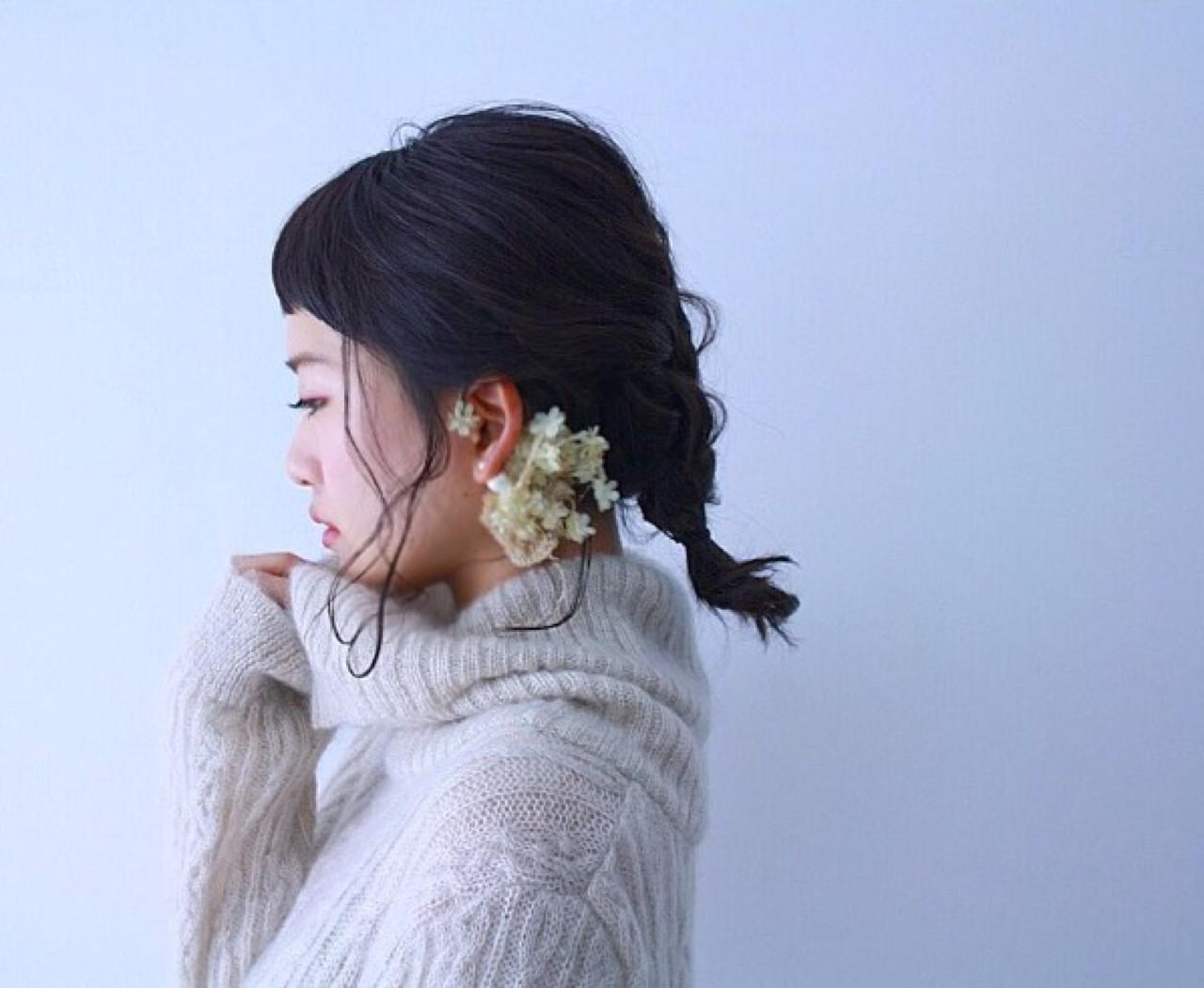 黒髪をもっとおしゃれに!オン眉バングで作るトレンドヘア特集のサムネイル画像