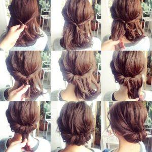 ワンパターンなんて言わせない‼長さ別ボブヘア簡単まとめ髪♡の画像