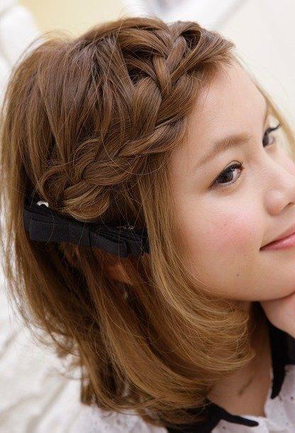 ぱっつん前髪に飽きてきたら…編み込みで可愛くアレンジしよう♡のサムネイル画像
