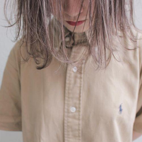 ≪シアカラー≫ですけすけに♡じわじわきてる透明感ヘアカラー!のサムネイル画像