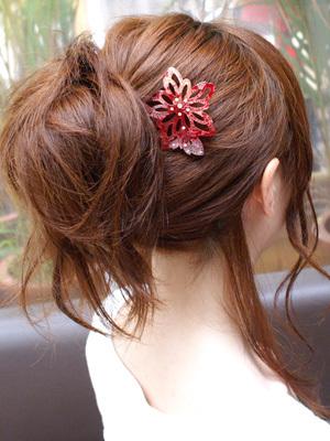 【かんざし】ショートヘアでもロングヘアでも使えるかんざしの挿し方のサムネイル画像