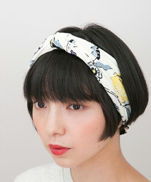 ショートヘアスタイルのヘアアレンジはターバンで簡単に出来ちゃう♡のサムネイル画像