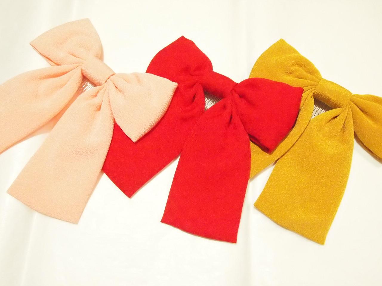 和服に合う!かわいい「リボンの髪飾り」たくさんあります!のサムネイル画像