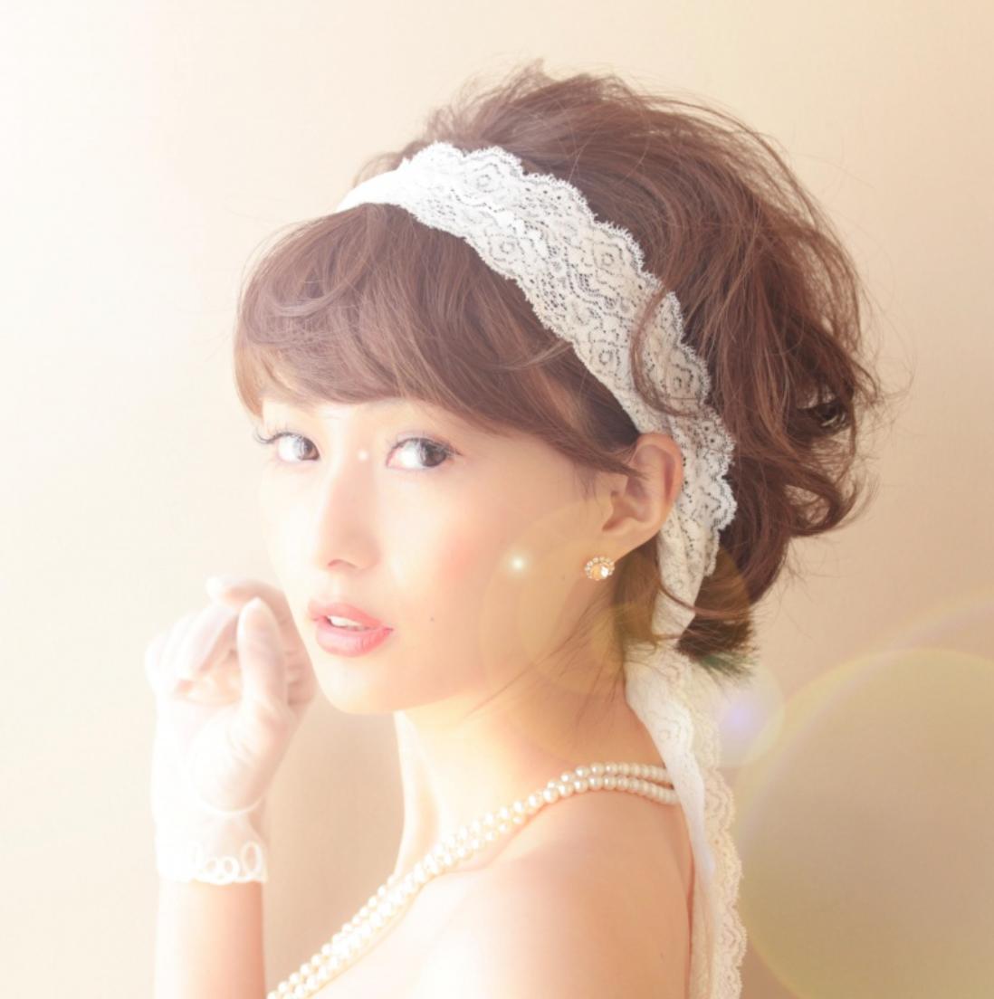 ショートボブ花嫁&ゲストの可愛い!結婚式ヘアアレンジまとめ!のサムネイル画像