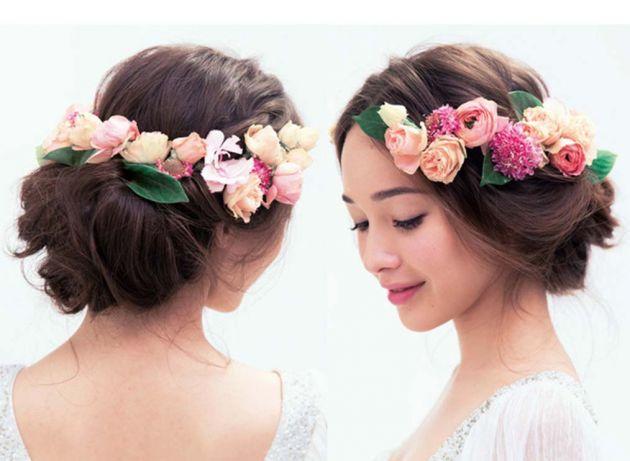 これから花嫁さんになる人必見♡花嫁さん向けアップの髪型特集♪のサムネイル画像