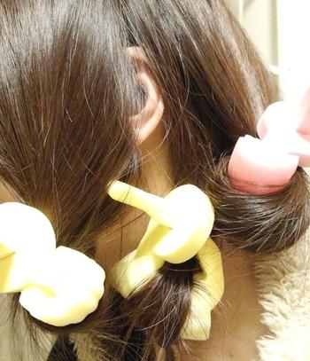 【髪に優しい】スポンジカーラーのコツ&使い方&ヘアスタイル集のサムネイル画像