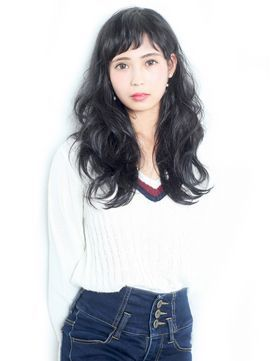 かわいくてごめん‼『黒髪ロング×ぱっつん』ヘアカタログ♡の画像